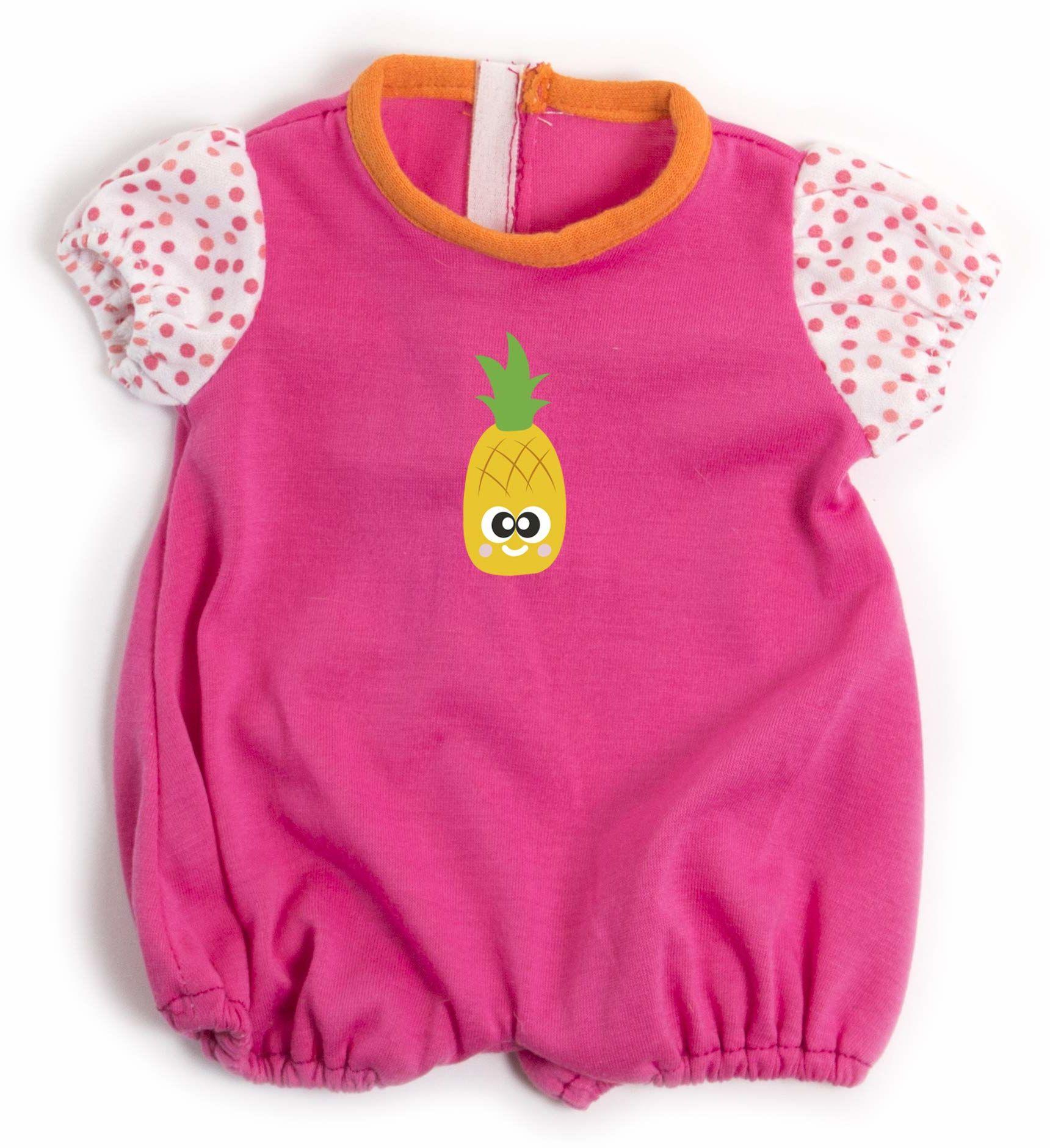 Miniland 31554 sukienka dla lalek, różowa, 38-40 cm