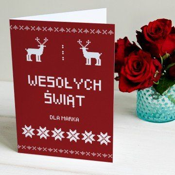 Świąteczny Sweter - kartka z życzeniami
