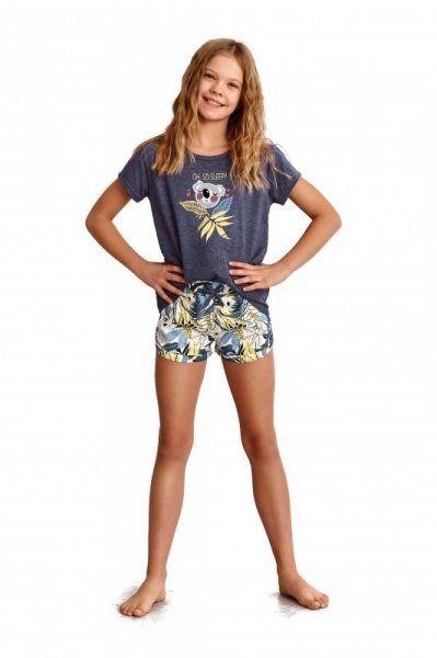 Piżama dziewczęca taro gabi 2384 granatowa