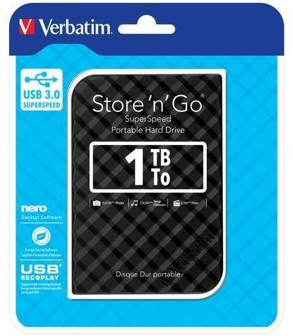 """Dysk zewnętrzny Verbatim 1TB Store ''n'' Go 2.5"""" czarny USB 3.0 GEN 2"""