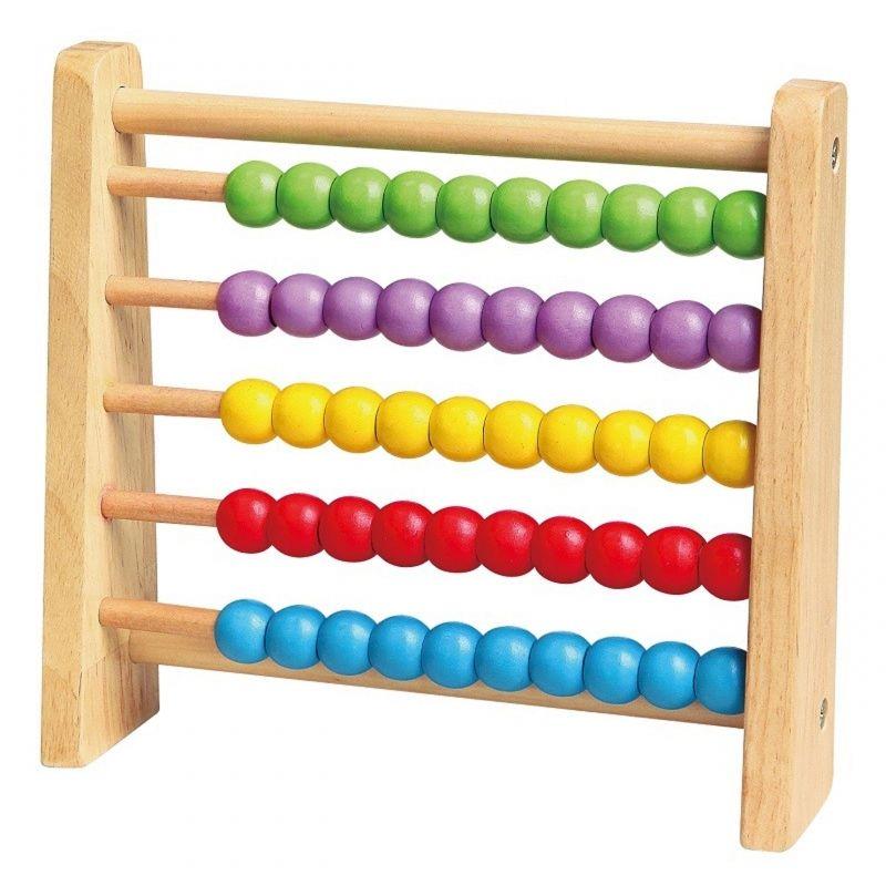 Drewniane Liczydło Edukacyjne Viga Toys Kolorowe LK