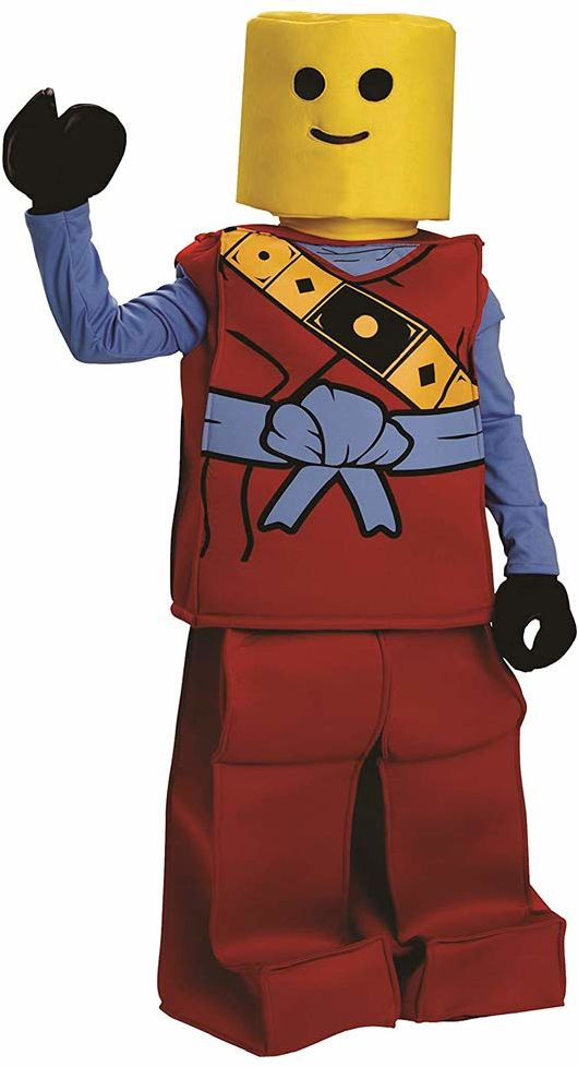 Dress Up America 873R-T2 Halloween Kinder Block Ninja strój dla dzieci, 1-2 lata (talia: 61-66, wysokość: 84-91 cm)
