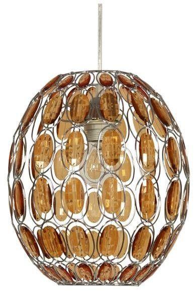SELMA LAMPA WISZĄCA 25 1X40W E27 POMARAŃCZOWY + LINKA 85-10523