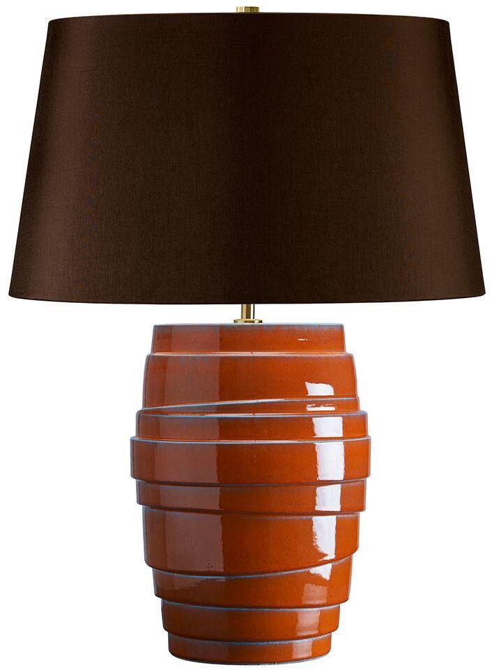 Lampa stołowa Mars Elstead Lighting pomarańczowo-szara oprawa w dekoracyjnym stylu