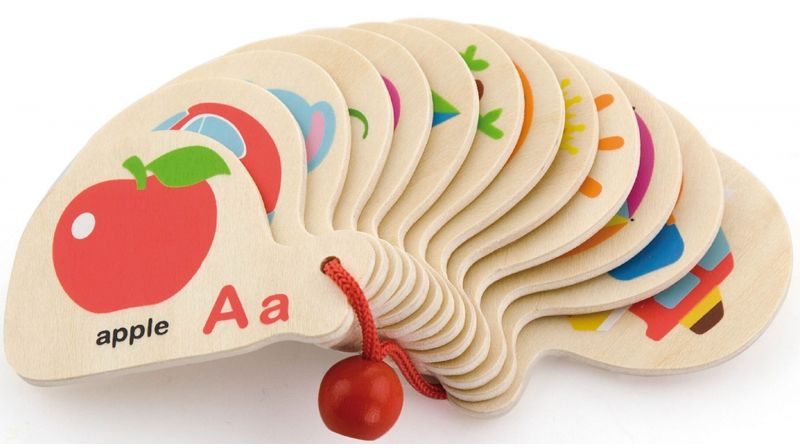 Viga Drewniana Książeczka do Nauki Alfabetu i Angielskiego LK