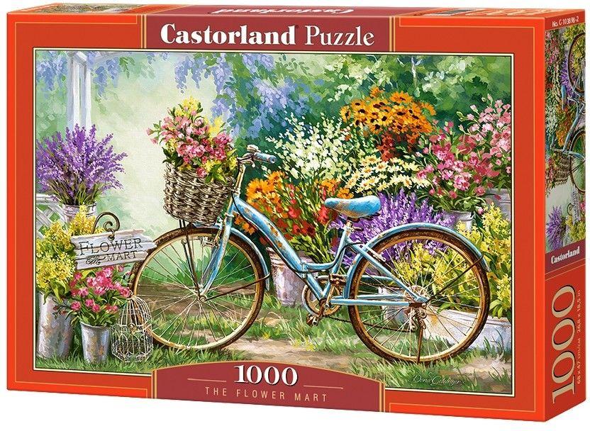 Puzzle Castor 1000 - Targ Kwiatów, The Flower Mart