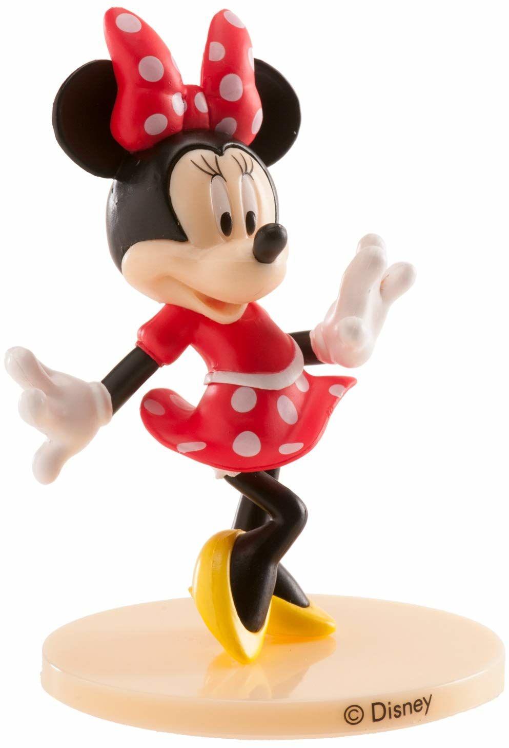 Dekora 347174 Disney Minnie Mouse figurka na tort z PCW 9 cm, wielokolorowa