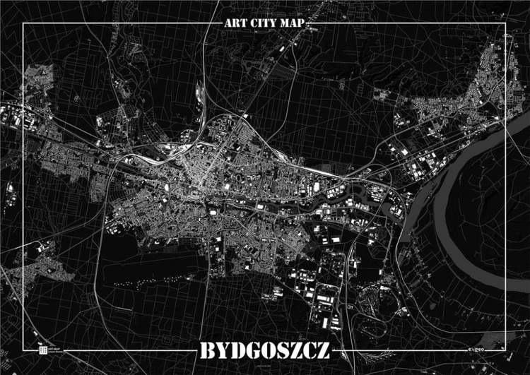 Plakat dekoracyjny - Bydgoszcz - Art-Map