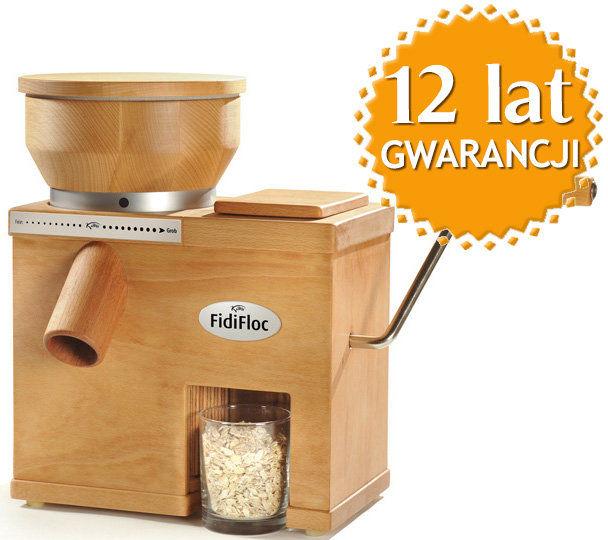 Domowy młynek dwufunkcyjny do mielenia zboża na mąkę i płatki zbożowe FidiFloc 21 + DOSTAWA GRATIS