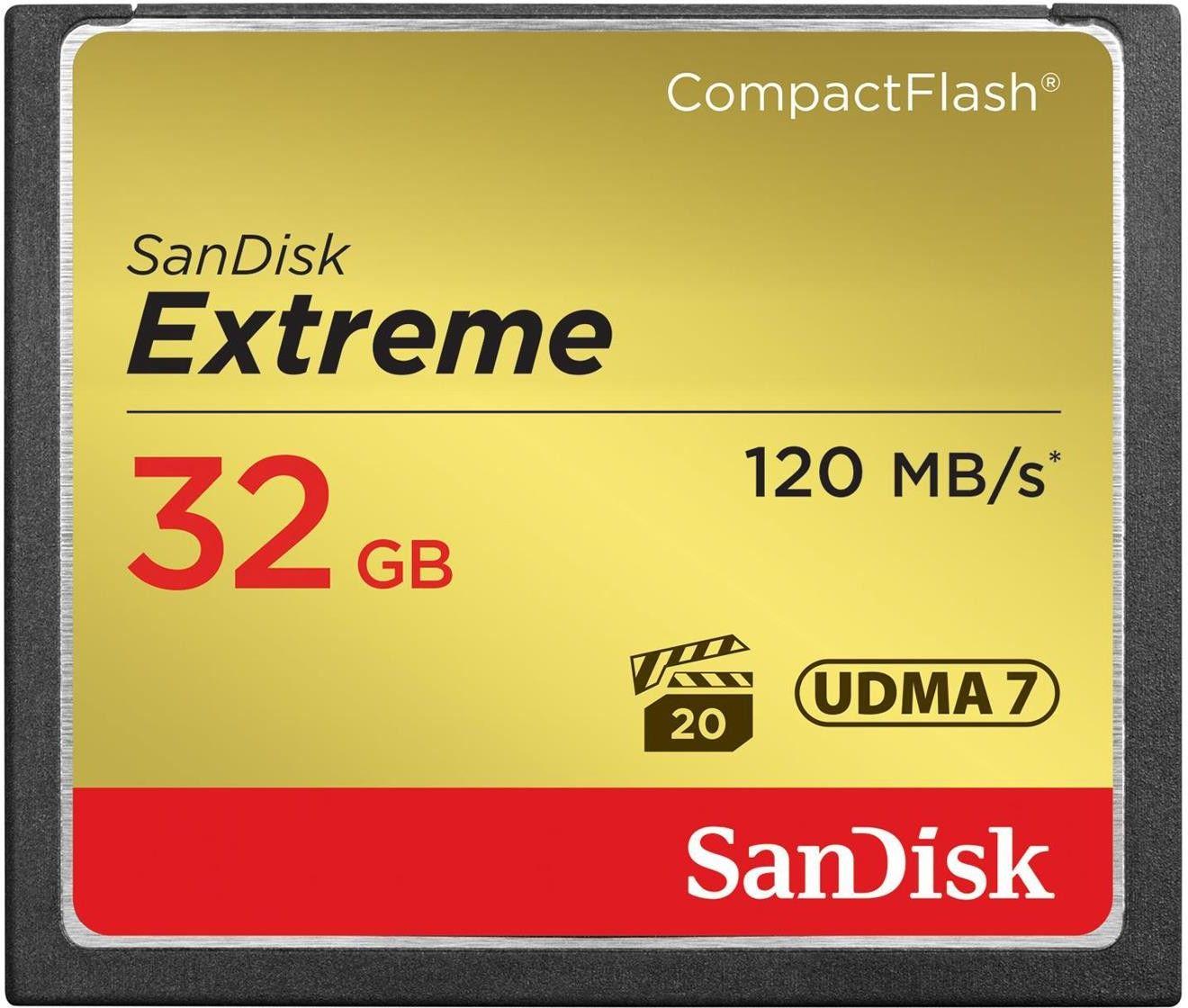 Karta pamięci SanDisk Compact Flash 32 GB Extreme 120 MB/s