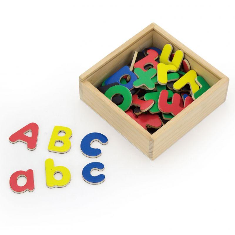 VIGA Drewniane Magnetyczne literki Magnes Uczymy się Pisać LK