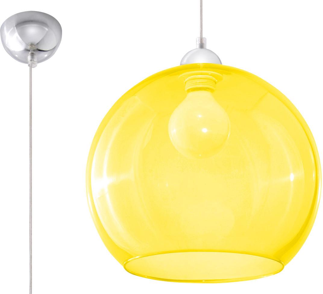 Lampa Wisząca BALL Żółta - Sollux