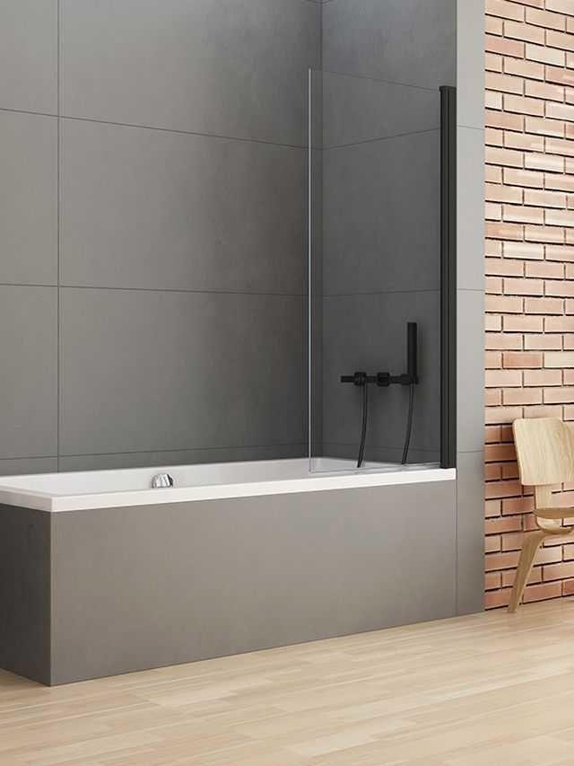 New Trendy parawan nawannowy New Soleo Black 90 cm, wys. 140 cm, szkło czyste 6 mm P-0040