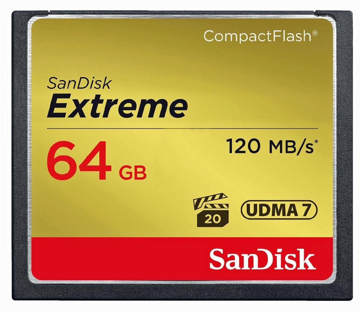 Karta pamięci SanDisk Compact Flash 64 GB Extreme 120 MB/s