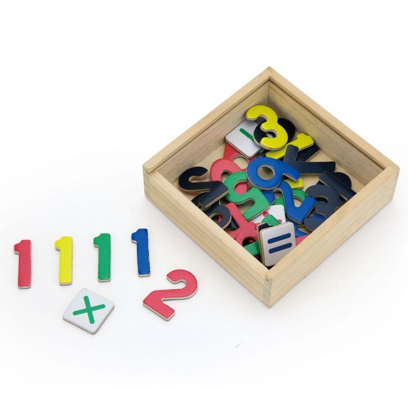VIGA Drewniane Magnetyczne cyferki Magnes Uczymy się Liczyć Matematyki LK