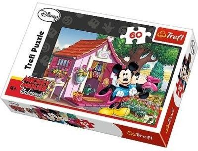 Puzzle 60 Elementów Myszka Miki i Minnie w Ogrodzie TREFL