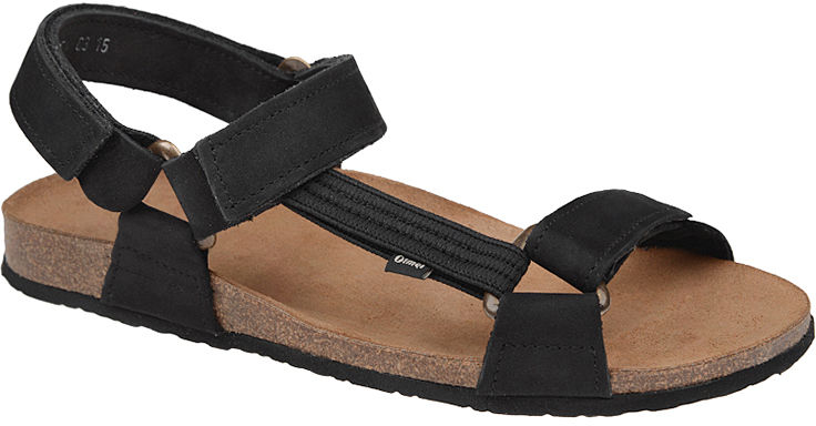 Sandały OTMĘT 415CP Czarne NaturForm Fussbett Jezuski