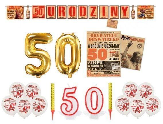 Zestaw dekoracji na 50 Urodziny PRL zes50-PRL1
