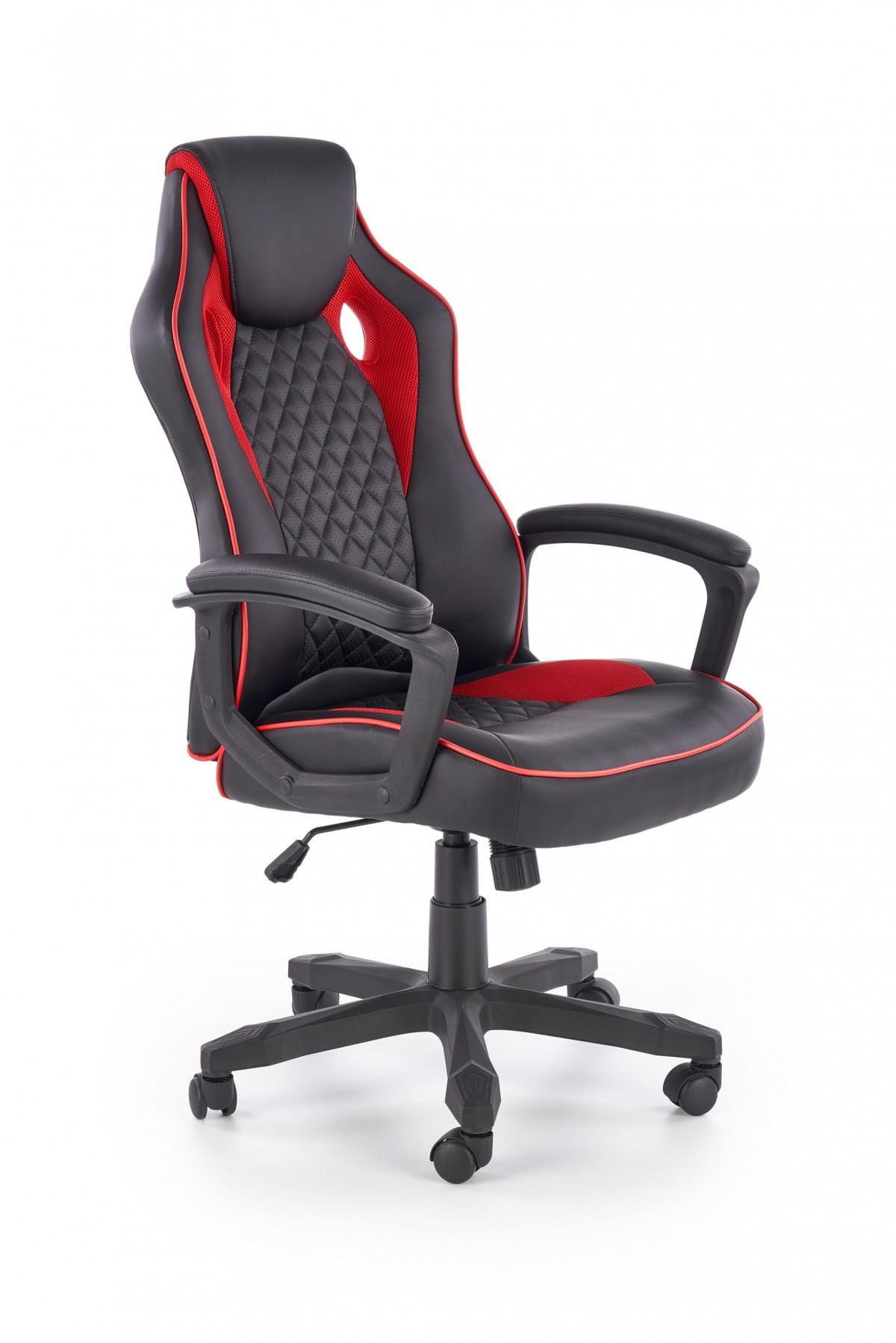 fotel gamingowy Halmar BAFFIN czarny czerwony