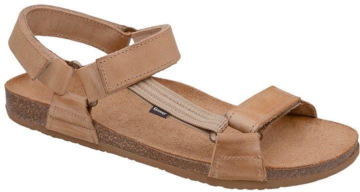 Sandały OTMĘT 415CP Beżowe Brązowe NaturForm Fussbett Jezuski