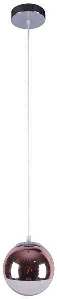 GAZE LAMPA WISZĄCA 20 1X60W E27 RÓŻOWO ZŁOTY