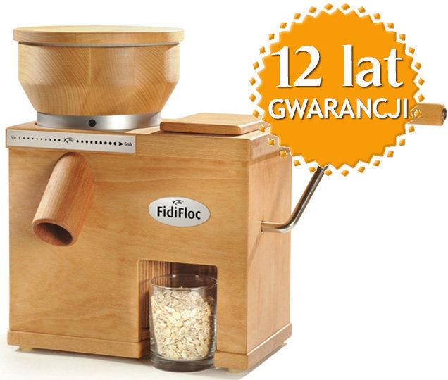 Domowy młynek dwufunkcyjny do mielenia zboża na mąkę i płatki zbożowe FidiFloc Medium + DOSTAWA GRATIS