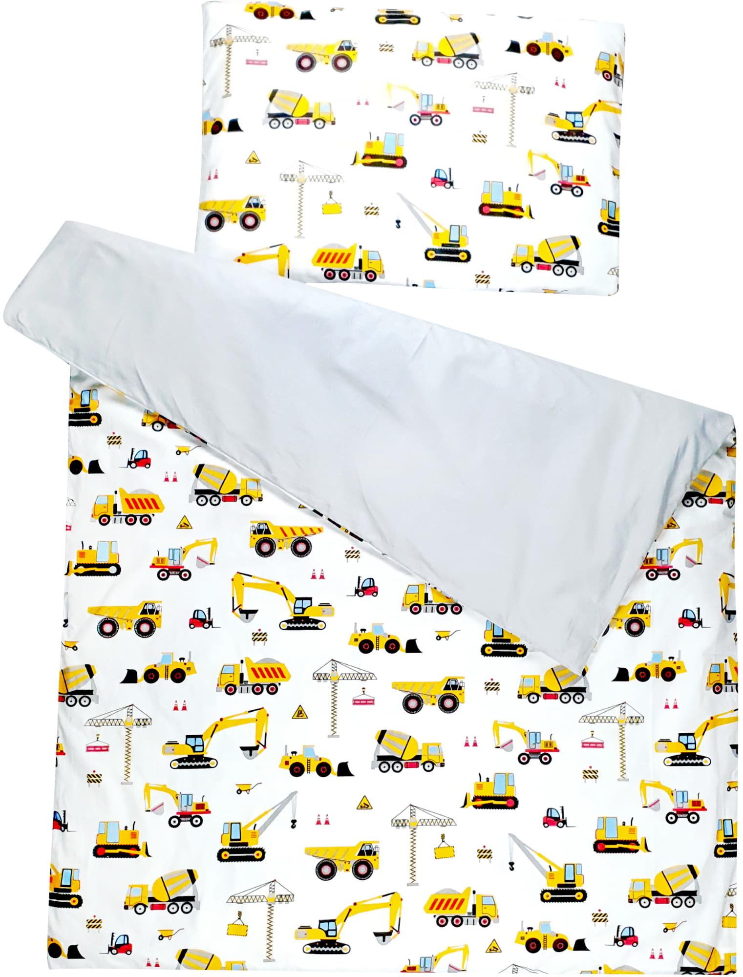 Pościel do łóżeczka 100% bawełna 2 el. koparki