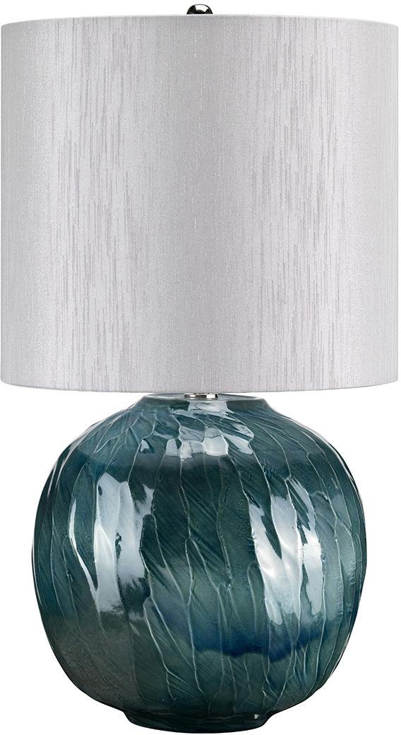 Lampa stołowa Blue Globe Elstead Lighting ceramiczna oprawa w kolorze turkusowym