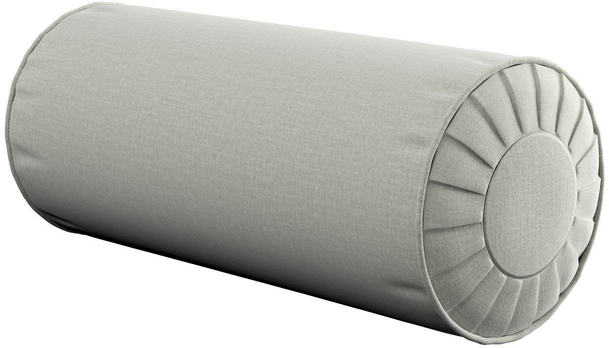 Poduszka wałek z zakładkami, pastelowo miętowy welwet, Ø20  50 cm, Ingrid