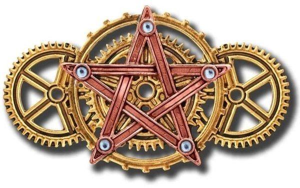 """Broszka """"penta meridia"""" - seria: steampunk """"engineerium"""" anne stokes"""