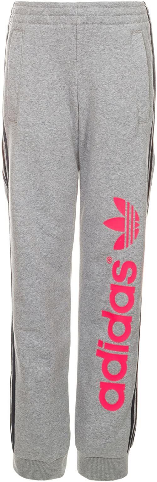 adidas Fun Track dziecięce spodnie treningowe, spodnie i legginsy, szare/koral, 92