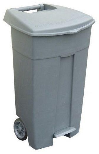 Pojemnik na odpady 120L szary z pedałem