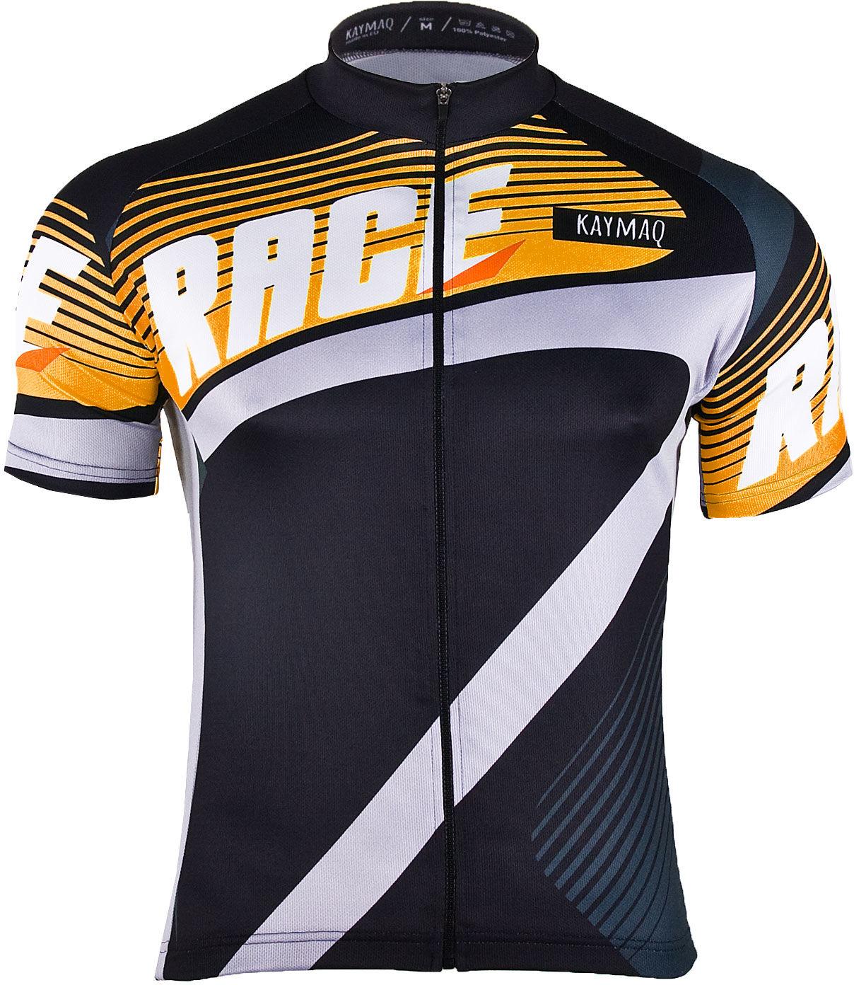 KAYMAQ M20 RACE męska koszulka rowerowa z krótkim rękawem pomarańczowa Rozmiar: L,kaymaqm20racepoma