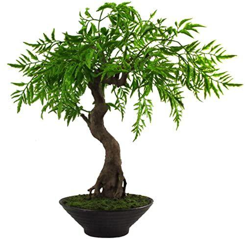 Leaf Sztuczne drzewo bonsai, skręcone Ficus Bosai, 45 cm