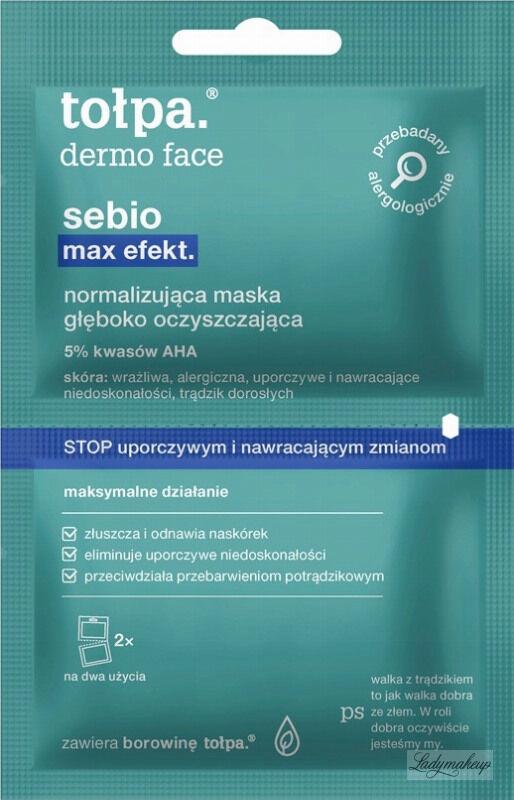 Tołpa - Dermo Face Sebio Max Efekt - Normalizująco-oczyszczająca maska do twarzy - 2x6ml