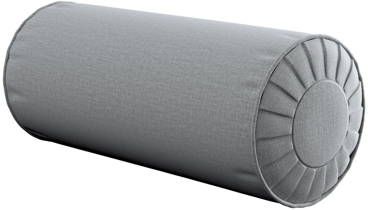 Poduszka wałek z zakładkami, ciemno szary welwet, Ø20  50 cm, Ingrid