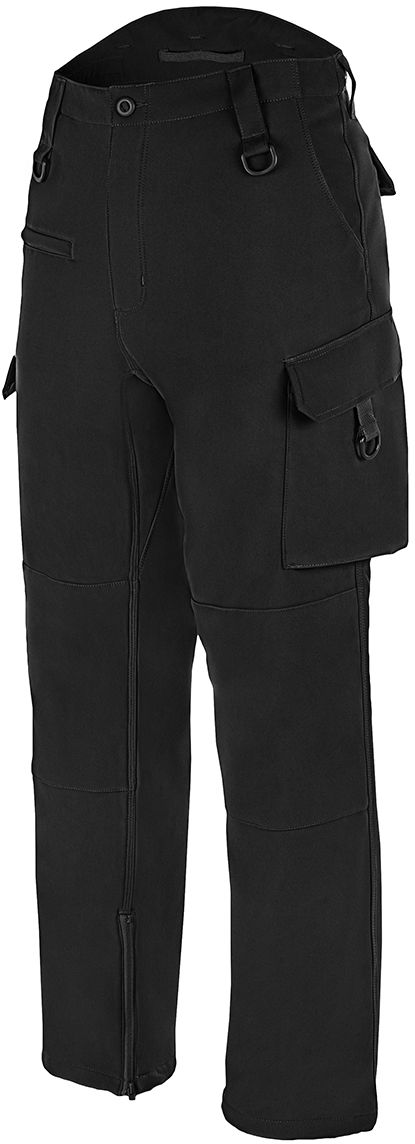 Spodnie ocieplane Mil-Tec Softshell Explorer Black - wodoodporne (11360002)