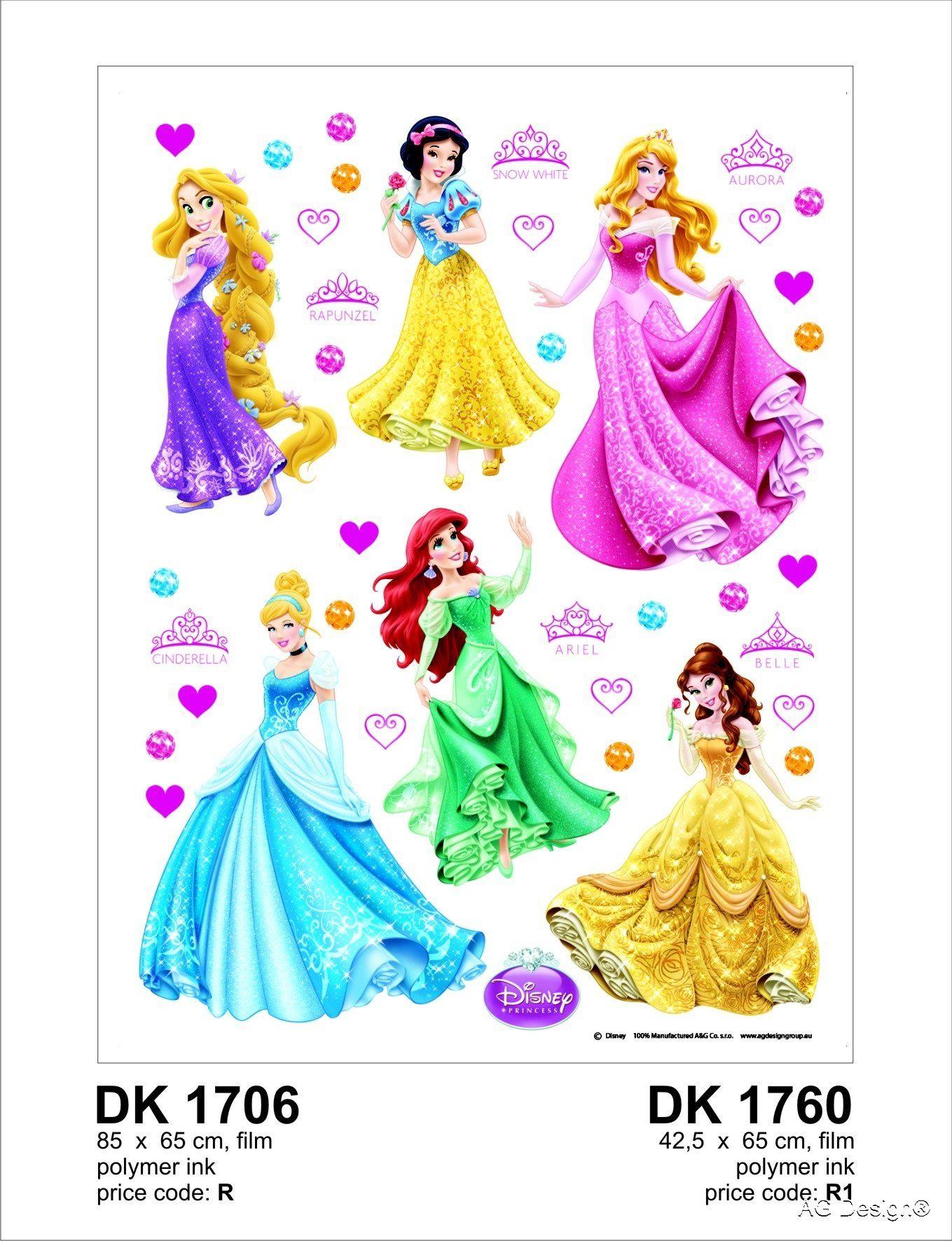 Naklejka ścienna DK 1706 Disney Princess