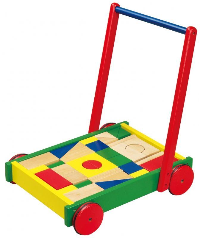 Drewniany Chodzik dla dzieci z klockami Viga Toys LK