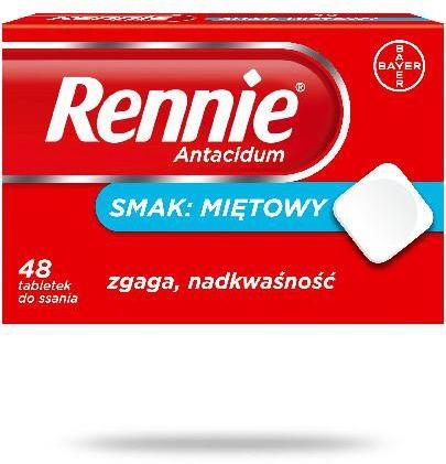 Rennie Antacidum smak miętowy 48 tabletek do ssania