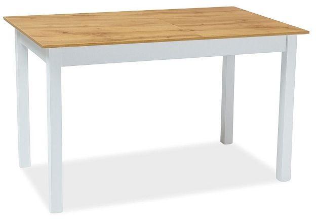Stół HORACY 100(140)x60 dąb wotan/biały mat rozkładany  Kupuj w Sprawdzonych sklepach