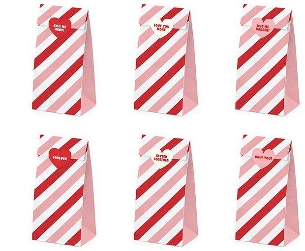 Torebki na słodycze Sweet Love 6 sztuk TNS7