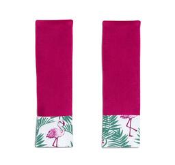 MAMO-TATO Ochraniacze na pasy do wózka Flamingi / czereśnia