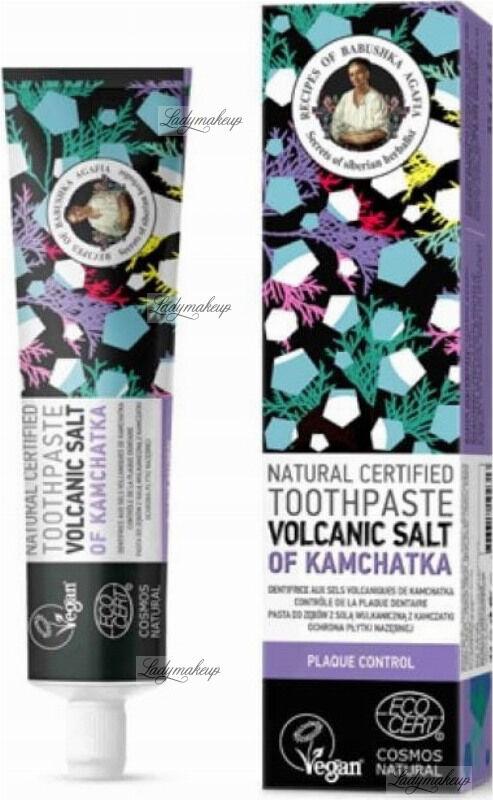 Agafia - Receptury Babuszki Agafii - Natural Toothpaste - Volcanic Salt Of Kamchatka - Naturalna pasta do zębów z solą wulkaniczną z Kamczatki - 85 g