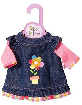 Zapf Creation 870013 - Dolly Moda sukienka dżinsowa, 30-36 cm