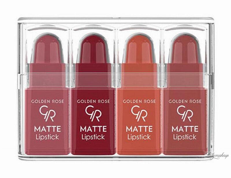 Golden Rose - Matte Lipstick Mix - Zestaw 4 matowych mini pomadek do ust - 03