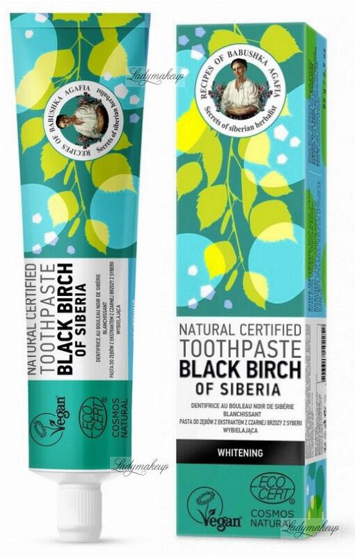 Agafia - Natural Toothpaste - Black Birch Of Siberia - Pasta do zębów z ekstraktem z czarnej brzozy z Syberii - Wybielająca - 85 g