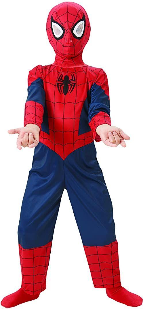 Rubie''s Oficjalny kostium Ultimate Spiderman Classic, dziecięcy - duży