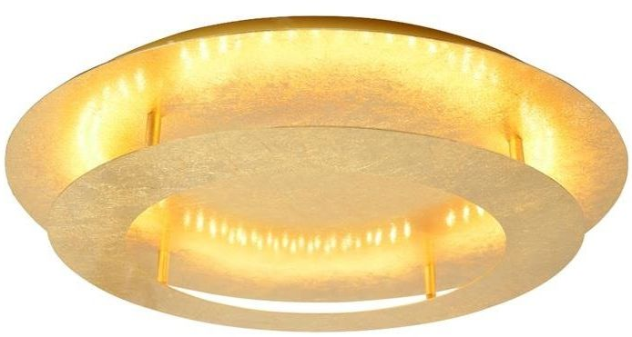 MERLE LAMPA SUFITOWA PLAFON 40 18W LED 3000K ZŁOTY