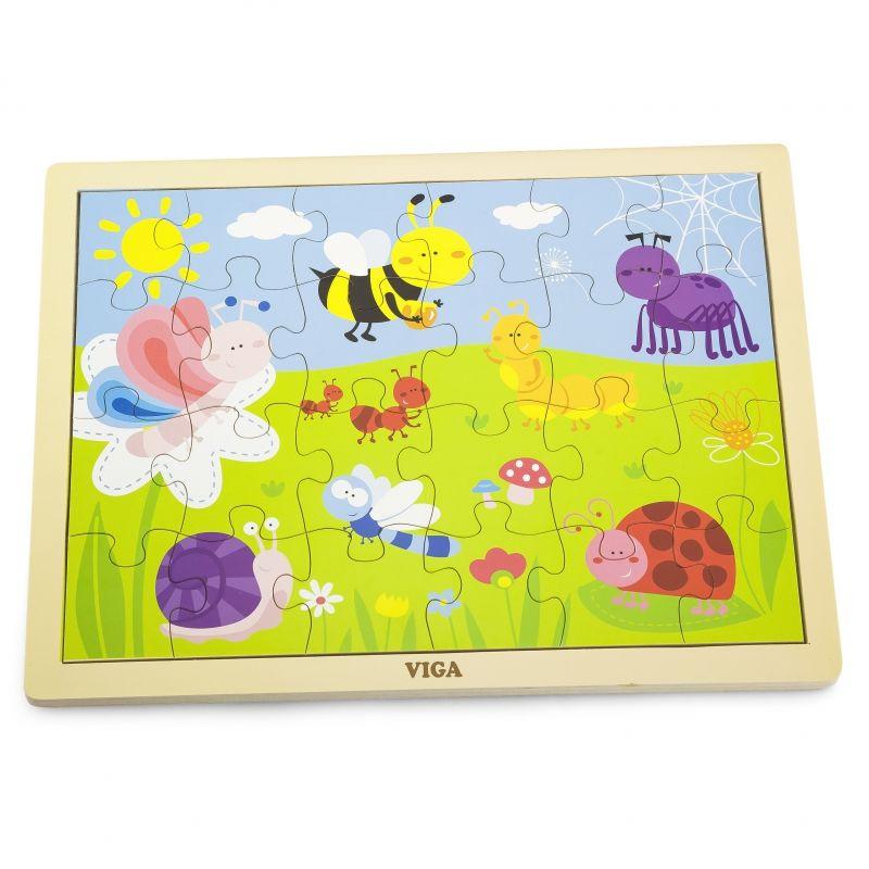VIGA Drewniane Puzzle Park 24 Elementy LK